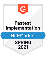 Fastest Implementation Mid-Market Spring 2021