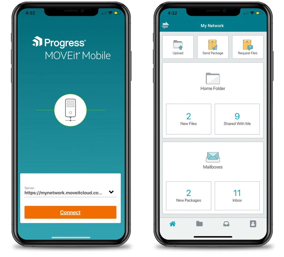 MOVEit Mobile Screenshot