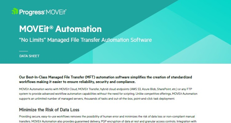 MOVEit MFT Automation Software Features - Ipswitch