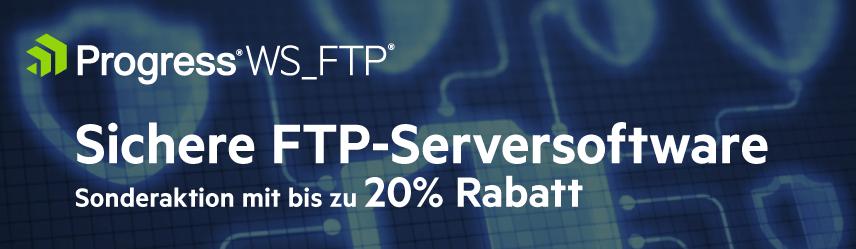 WS_FTP Server von Progress Promo mit bis zu 20% Rabatt