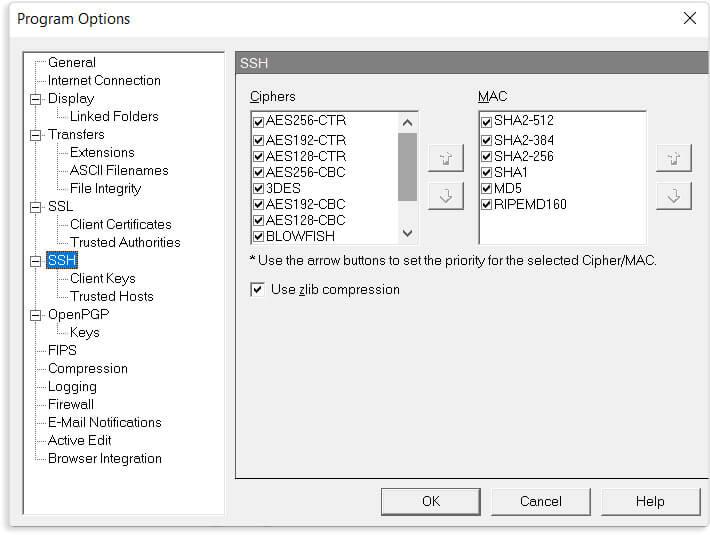 Segurança Best-In-Class - WS_FTP - Professional FTP Client Software