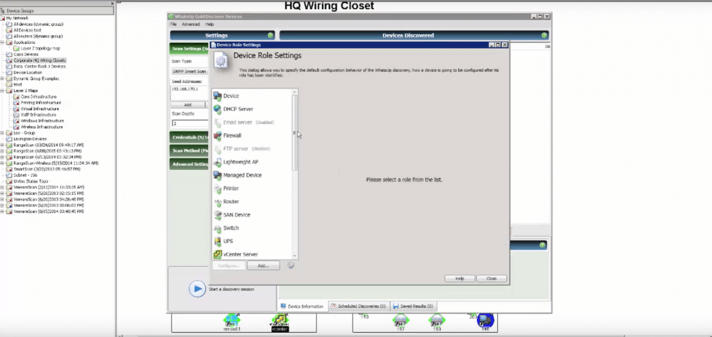 Setting Up Device Roles in WhatsUp Gold