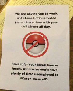 pokemon go work