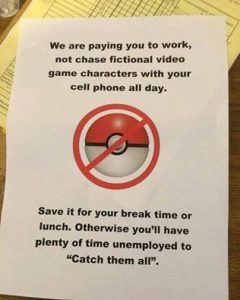 pokemon go work