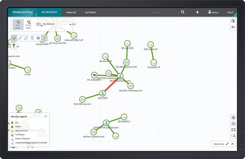 Interface utilization map